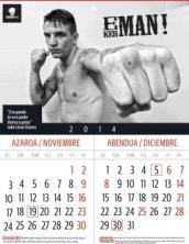 Kerman Lejarraga en el calendario 2014 de boxeo