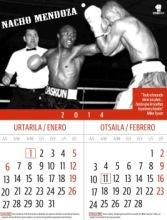 Nacho Mendoza en el calendario 2014 de boxeo