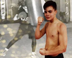 Iker Fernández, 14 años y mucha afición por el boxeo.