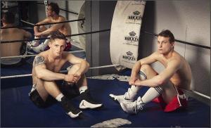 Denis, a la izquierda y Artem Sukhanov